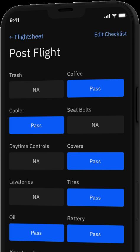 Postflight Checklist